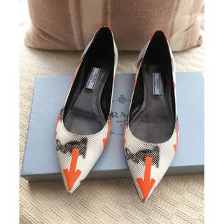 Prada   leather flats shoes ballerina   @ SIZE 37   MADE IN ITALY @ ....