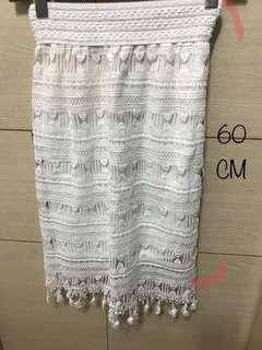 蕾絲氣質高腰裙