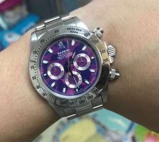 已絕版 90%NEW 潮物BAPEX 猿人手錶 全自動 大裝 $2880