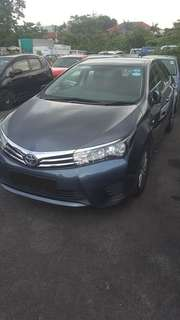 New Model Toyota Altis For Leasing!! Grab / Long Term Personal Usage Welcome!!