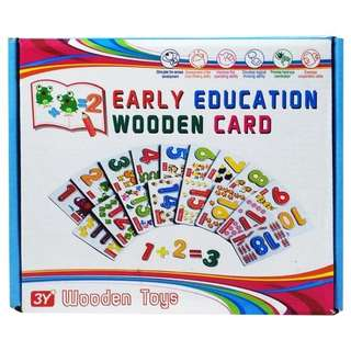 Early education wooden card / flash card