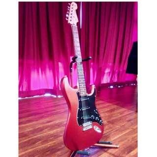 Fender Standard Stratocaster Satin Red Electric Guitar
