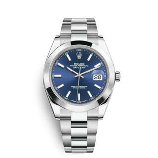 Rolex Datejust 41 Watch: Oystersteel - 126300 (Blue)