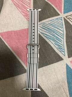 100% Apple Orignial 38mm Gray Stripe Woven Nylon 灰間條尼龍錶帶