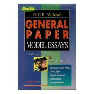 G.C.E. 'A' Level General Paper Model Essays