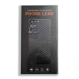 iPhone 7 8 Plus 專用6合1攝影鏡頭手機殼 魚眼 廣角 微距 遠攝