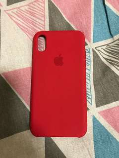 100% Apple Orignial iPhone X Product Red Silicone Case 紅色iPhone X手機殼