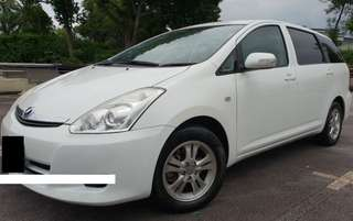 1 Month Car Rental Toyota Wish @ $400 / Week