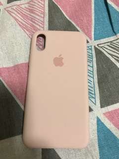100% Apple Orignial iPhone X Pink Silicone case 粉紅手機殼