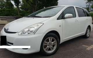 1 Month Car Rental Toyota Wish @ $400 / Week