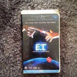E.T VHS Video
