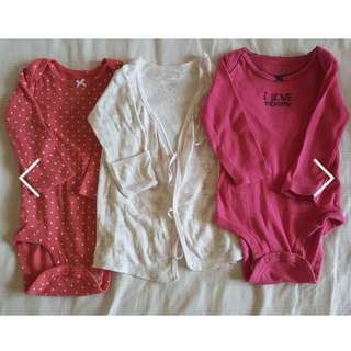 Carter and Chicco Bundle Onesies