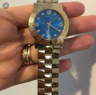 Marc Jacobs Gold Blue Watch