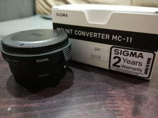 Sigma MC-11 Canon EF Mount to Sony E-Mount Adapter