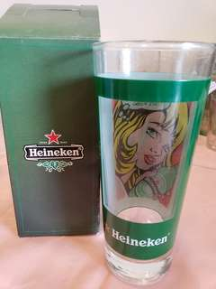 Heineken drinking glass