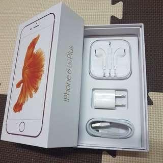iphone 6s plus rosegold 64gb complete