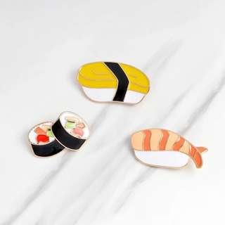 Sushi Enamel Pin Series