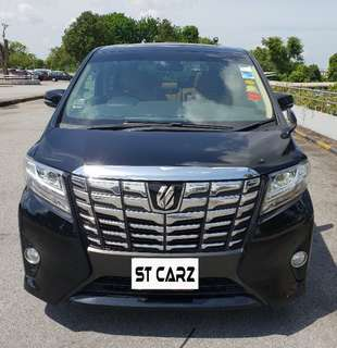 TOYOTA ALPHARD 2.5X CVT 2015 FOR RENT!