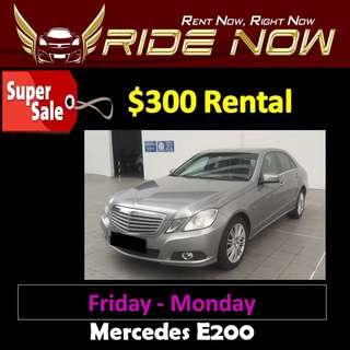 $300 Mercedes E200 Weekend SALE