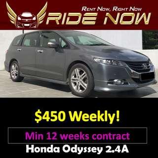 Honda Odyssey 2.4A (New FL) Long Term Car Rental