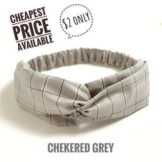 🚚 Checkered Cloth Headband / Fashion Headband
