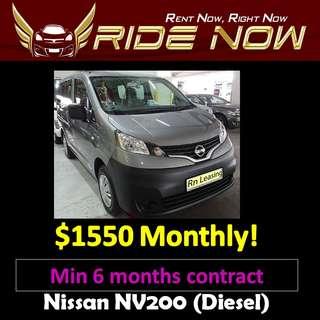Nissan NV200 Diesel Long Term Car Rental