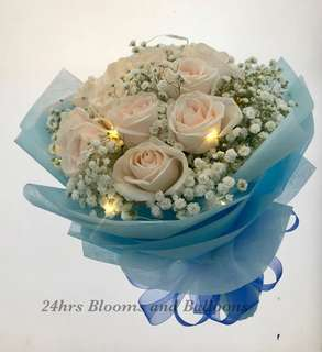 12 Stalk Rose with Led Light Bouquet
