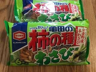 日本代購:柿の種わさび口味160含運