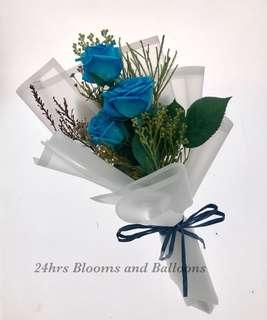 Blue Rose Flower Bouquet