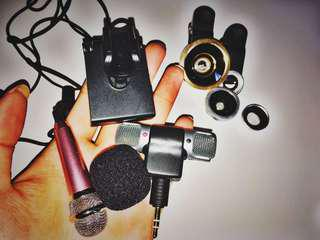 TWO MINI MICS & FOUR CLIP-ON LENS