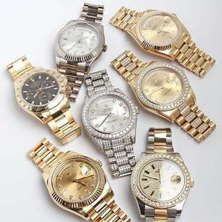 Gold, Diamond made and Silver Watches for Sale