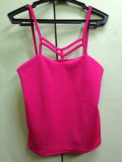 Dark Pink Crop Top