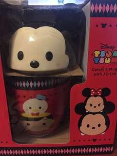 Disney tsum tsum 水杯連蓋(杯可微波爐)