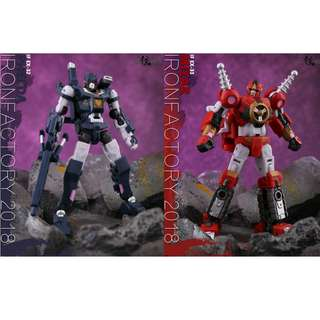 [Preorder set of 2] Iron Factory, IF-EX32 & IF-EX33 Phecda & Mizar (Vos & Kaon), combiner Spirits of the D.E.C.