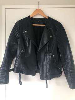 Topshop leather UK12