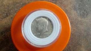 Kennedy, Benjamin and walking liberty half silver dollar coin