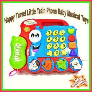 💥BABY TOYS - Happy Travel Little Train Phone Baby Musical Toys💥