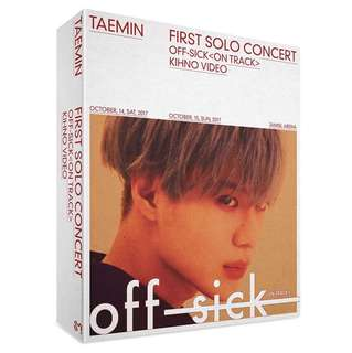 [PREORDER] TAEMIN - First Solo Concert 'Off Sick <on track>' Kihno Video