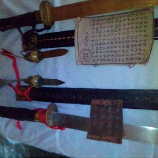 Pedang jepun thn.1001 dan.thn.1503.sertipikat