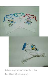Top, set of 3 for boys