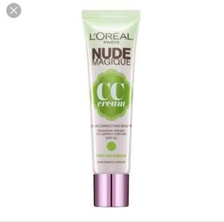 L'Oréal Nude CC Cream Anti Redness