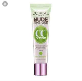 L'Oréal Nude CC Cream Anti Redness