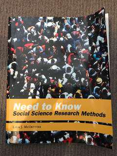 Need to Know - Social Science Research Methods