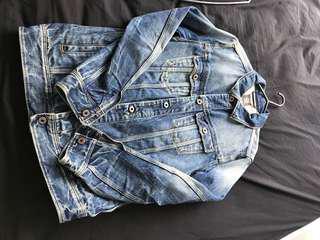 G star denim jacket made in Italy