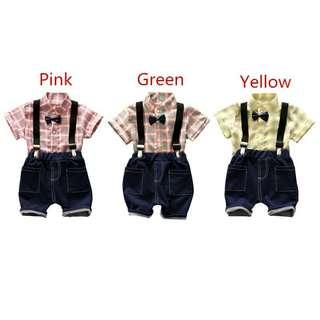 Baju Anak Laki-Laki Model Suspender/Setelan Anak Laki-Laki Import