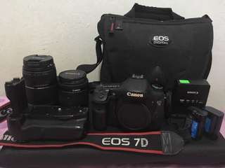 Canon 7D with ALL LENS