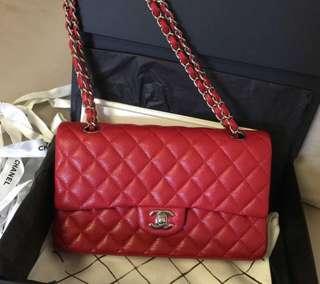 Pre-Loved Red Chanel CF medium