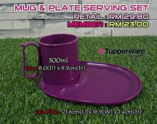 Mug & Plate Serving SetTupperware