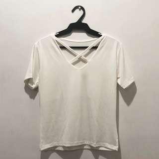 Off-white Crisscross Top