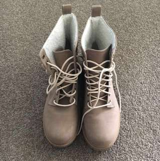 Light Brown comfy ankle boots